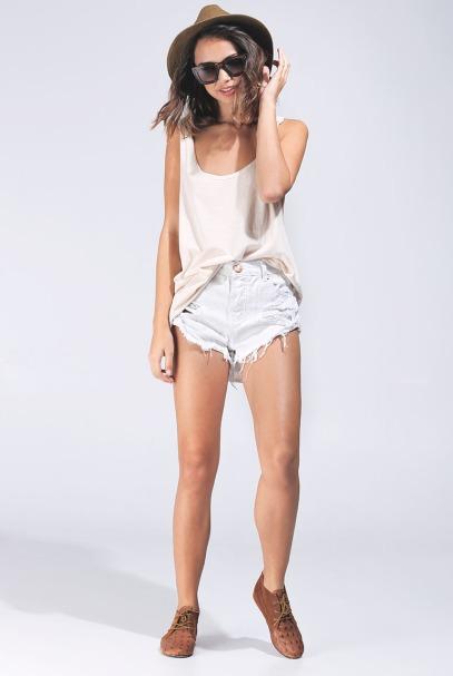 Les minis shorts improbables de chez one Tea Spoon