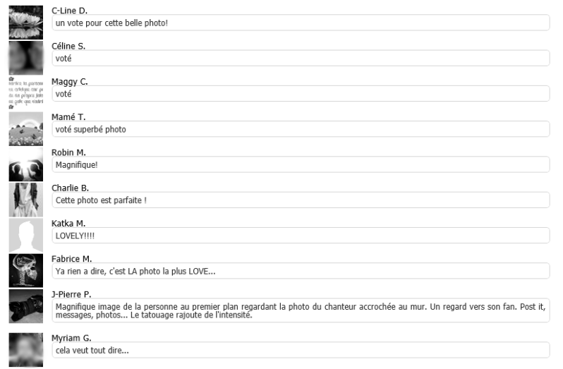mes commentaires