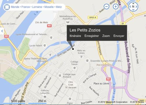 plan Les Petits Zozios Metz