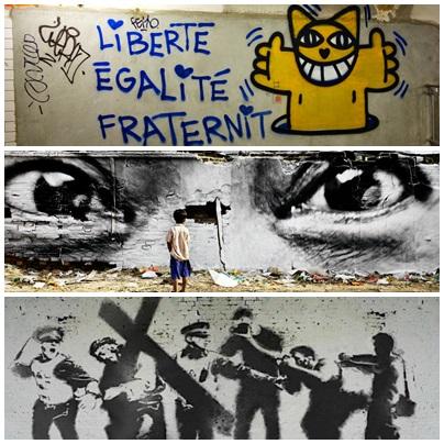 Mr Chat / JR / Banksy