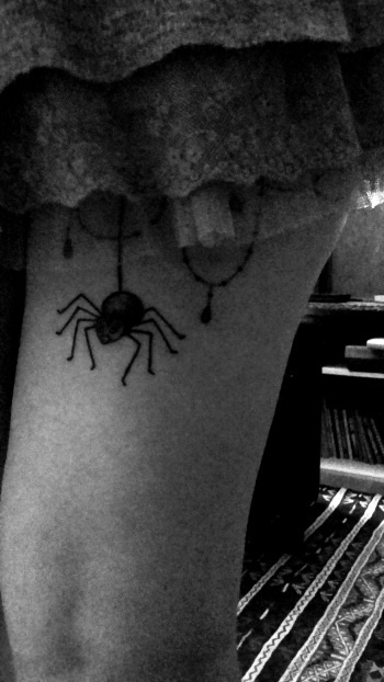L'araignée de Morgane du Petit Atelier de Dermographie à Strasbourg