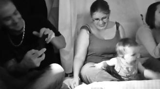 Même les bébés étaient heureux!