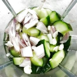 préparation Gaspacho vert